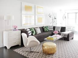 Yellow And Green Living Room Accessories 12 Living Room Ideas For A Grey Sectional Hgtv U0027s Decorating