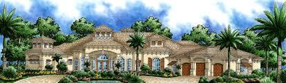 plan 76008gw stunning mediterranean villa pool storage summer