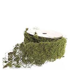 moss ribbon 6 5 of bendable wired moss ribbon for