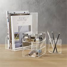 Acrylic Desk Organizers Acrylic Desk Accessories Cb2