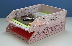 Stackable Desk Organizer Letter Tray Desk Organizer Stackable File Holder Set Of 2