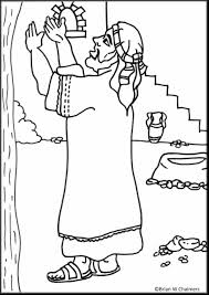 Remarkable Jesus And Zacchaeus Coloring Page With Zacchaeus Zacchaeus Coloring Page