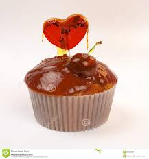 s day heart candy cupcake for s day with honey cherry and heart candy