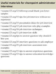 sharepoint resume top 8 sharepoint administrator resume sles