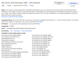 where do i get sql server 2016 developer edition