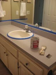 paint formica bathroom cabinets painting laminate counter tops to make them look like stone with out