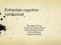 entrevista cognitivo conductual