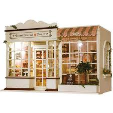 Dolls House Furniture Diy Amazon Com Rylai Wooden Handmade Dollhouse Miniature Diy Kit