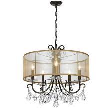 5 light bronze chandelier crystorama othello collection 5 light english bronze chandelier