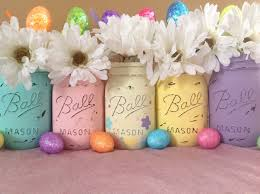 Easter Decorations On Amazon by Set Of 5 Easter Mason Jars Mason Jars Easter Decor Easter