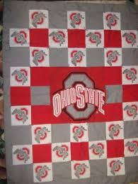 Ohio State Runner Rug Team Spirit Quilt Pattern With Applique Design Tutorial Design