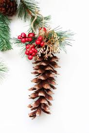 diy pine cone ornaments domestically creative