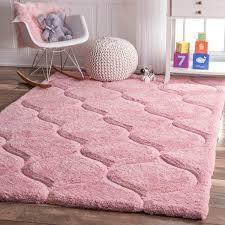 plush pink shag rug