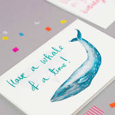 have a whale of a time u0027 whale birthday card by jenny jackson