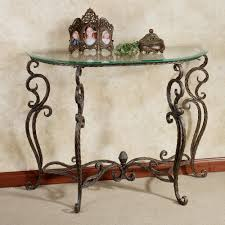 Rustic Hallway Table Rustic French Style Half Moon Console Table With Metal Legs And
