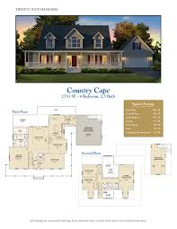 Cape Floor Plans by Floor Plans Trinity Custom Homes Georgia