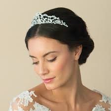 bridal tiara pearl wedding tiara