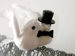 dove cake topper dove w veil top hat tux cake topper 3 feathered wings