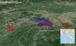 Piedmont Italy Map by Map Italian Wine Regions U2014 Tenzing