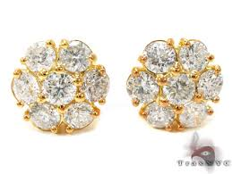 diamond earrings on sale large blossom studs 21121 featured earring yellow gold 14k