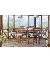 High Patio Dining Sets Don U0027t Miss This Deal Carol Stream 7 Piece Balcony High Patio