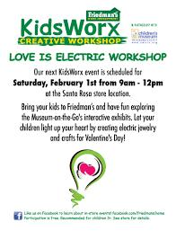 kidsworx creative workshop feb 1st