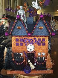 halloween paper mache houses purple chocolat home
