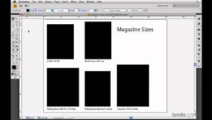 magazine layout size indesign cs4 choosing the magazine size lynda com youtube