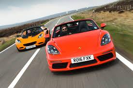 porsche boxster 2016 hardtop porsche 718 boxster s vs lotus elise sports cars compared autocar