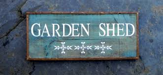 gerry melly popular garden shed signs