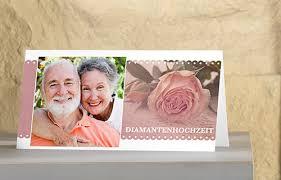 einladungen zur diamantenen hochzeit einladungskarten zur diamantenen hochzeit gestalten dm foto paradies