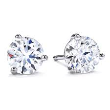 diamond stud earrings uk hearts on 18ct white gold diamond stud earrings 0005232