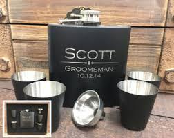 and groom flasks groomsmen flask etsy