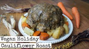 whole cauliflower roast vegan thanksgiving