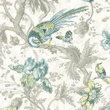 crowe hall lane paradise bird print wallpaper little greene