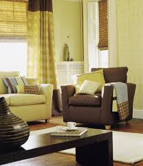 furniture home fancy living room set and brown curtains with