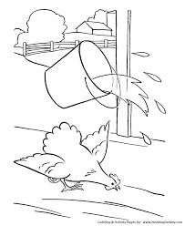 farm animal coloring pages chicken coloring page and kids