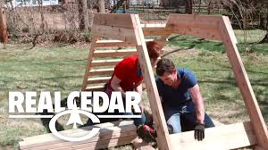 How To Build A Wooden Playset How To Build Children Playset Realcedar Com Youtube