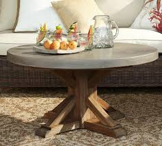 pottery barn concrete table concrete top round coffee table pottery barn