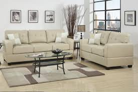 Leather Sofa Set Prices Khaki Bonded Leather Sofa Loveseat F7342 Lowest Price Sofa