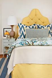 inviting upholstered headboards southern living sunny yellow headboard