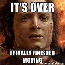 Moving Meme Pictures - it s over i finally finished moving frodo it s over meme generator