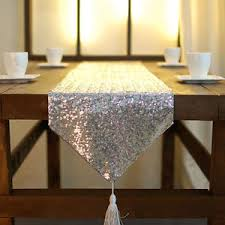 silver sequin table runner new fashion bling bling silver sequin table runners placemats for