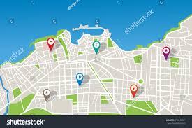 Navigation Map City Map Navigation Pins Stock Vector 513543721 Shutterstock