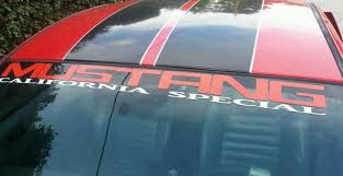 mustang windshield decal ford mustang california special windshield decal v8 v6 gt