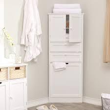 Corner Bathroom Vanity Ideas by Bathroom Cozy White Polished Corner Cabinet Bathroom Cabinetry