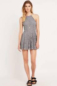 kimchi blue loraine grey lace dress in gray lyst