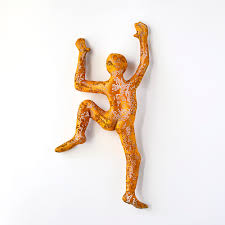 Contemporary Art Home Decor Contemporary Art Climbing Man Sculpture Wire Mesh Sculpture