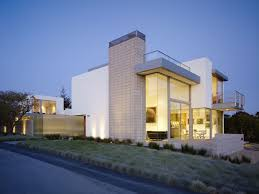 Modern Home Designs by Contemporary Modern House White Exterior Looks With Large Yard
