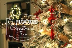 our joy his glory o flocked christmas tree